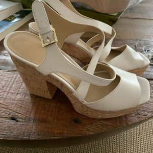 Michael Kors Abbott cork sandals 8.5 new